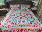 设计器乌兹别克斯坦绣花卉棉 suzani 床盖床罩枕头