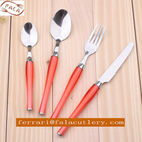 Used Restaurant Hotel Purple Plastic Handle Cutlery Tableware Set - FALA INDUSTRY CO.,LTD