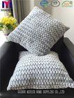 Fake Fur Bottom Printed Check Design Factory Cushions - suzhou mirich home supplies co.,ltd