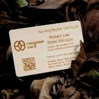 Laser engraved wooden business cards - Hua Hong Recycled Card Co., Ltd