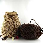生产供应各种手编草包,沙滩包