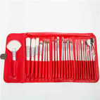 26-piece classic red cosmetic brush...