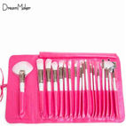 18-piece pink cosmetic brush for ge...