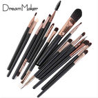 15-piece black gold cosmetic brush