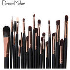 20-piece black gold cosmetic brush