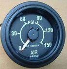 Utrema Auto Mechanical Dual Needle Air Pressure Gauge 2-1/16