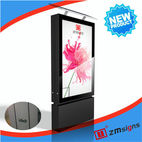 ZM-206 Solar Advertising Light Box Billboard scrolling light box - Xuzhou Lantian Stainless Steel Co., Ltd.