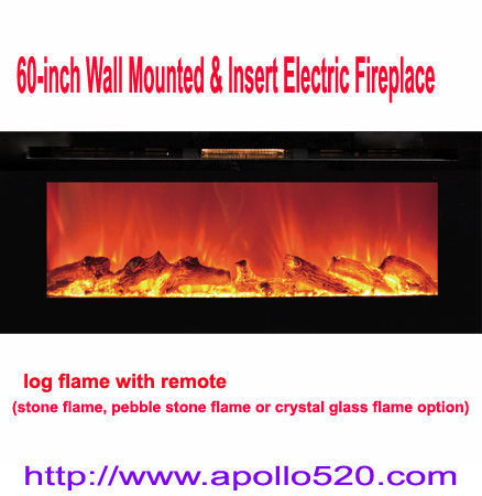 Sell 60 Inch Wall Mounted Insert Electric Fireplace With Remote
