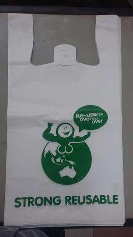 White HDPE T-shirt plastic bag | B2Brazil
