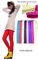 Female fluorescent spandex stretch leggings candy color inventory 500pcs $1.5/pcs clearance -