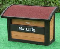 Amplamente utilizado Crafted ao ar livre em pé madeira caixa de correio -