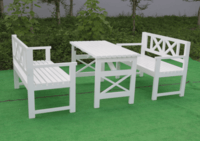 Outdoor long tables and chairs -