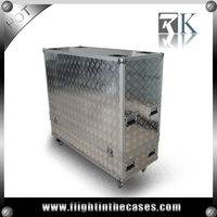 Aluminum Plasma TV Display Flight Case -