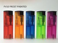 7.3cm Refillable plastic turbo lighter-FV10 -