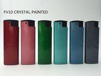 7.3cm refillable crystal finish turbo lighter-FV10T -