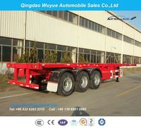 3-axle chassis or skeleton containers container truck semi-trailer -