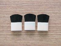 cheek color brush, pink small flat brush, single beauty mini portable cheek color brush, wool cheek color brush -