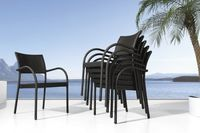 Cheap outdoor rattan wicker dining chair  -