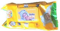 100pcs baby wipes with plactic lid  50gsm 15*20cm -