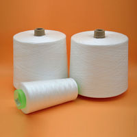 China sewing thread raw white 100% spun polyester yarn -