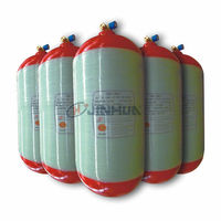 Hoop-wrapped CNG cylinder with steel liner for vehicles 40-120L -