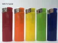 8.1cm refillable big triangle transparent electronic lighter -