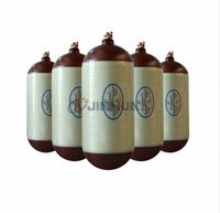 Hoop-wrapped CNG cylinder with steel liner for vehicles with outside diameter 300mm -