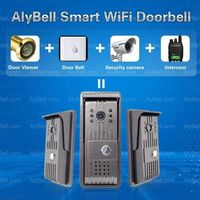 WiFi Doorbell Video Door Phone Wireless Night Vision Intercom for Home Security -