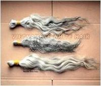 Limited quality Vietnamese white hair unprocessed -