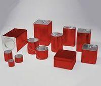 Latas metálicas e recipientes -