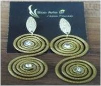 Earring In Golden Grass Raw Material -