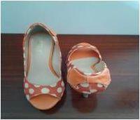 Pata Half Shoe In Orange -