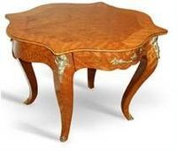 French Antique Style Louis XV Nightstand with Most Golden Bronze -