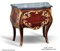 French antique bombe nightstand -