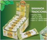Tradicional pasta cremosa dulce de plátano -