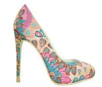 New Womens Colorful Feature Pattern High Heel Sexy Pumps -