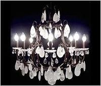 Brass Chandelier 08 Arms With Rhinestones -