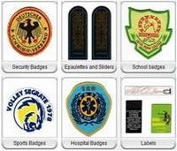 insignias tejidas -
