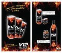 Negro V12 Energy Drink Vida útil: 1 año -