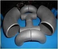Titanium pipe fittings elbow caps -