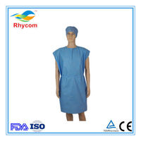 Disposable non-woven patient gown/isolation gown/visit gown/scrub suit -