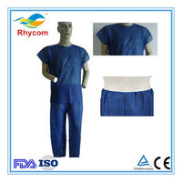 Customized disposable non-woven suit/patient gown -