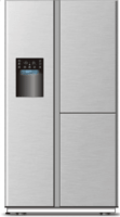 Side-by-side combination refrigerator -