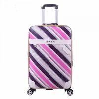 PU leather suitcase sack spinner men/women luggage -