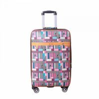 Colorful trolley suitcase luggage Women traveller customs lock case -