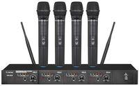 Cuatro UHF de micrófono inalámbrico Canal -
