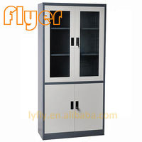 Up glass down iron file cabinets -
