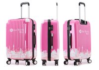Hard pink rotation trolley case -