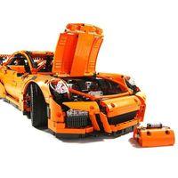 LEPIN 20001橙色汽车模型911积木玩具 -