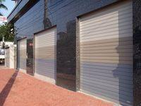 Garaje puerta de balanceo - aleación de aluminio -